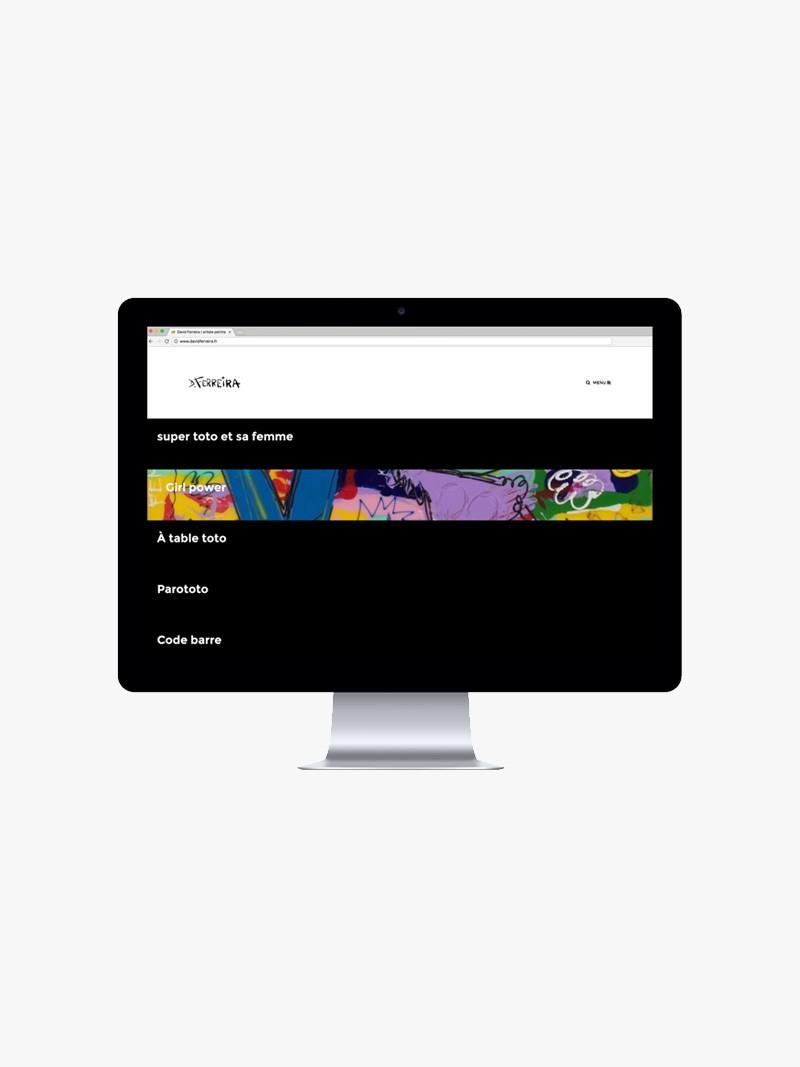 Découvrez le nouveau site haut en couleurs de David Ferreira